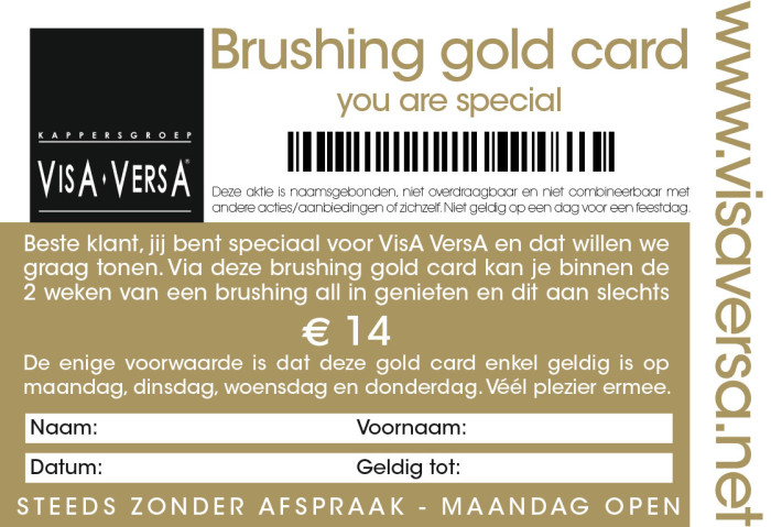 brushing goldcard